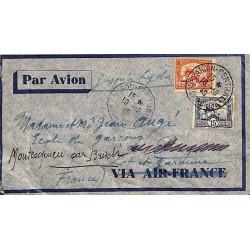 1940 Lettre avion jusqu'à...