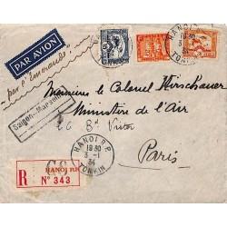 1934 Lettre avion commandée...