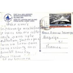 1978 PORT-VILA NOUVELLES HEBRIDES sur carte postale Concorde