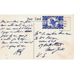 Carte postale pour les USA CENSURE ALLIEE NOUVELLE CALEDONIE 6