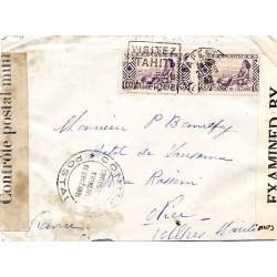 1942 Lettre pour la France...