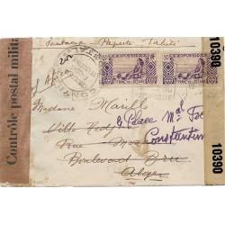 1943 Lettre pour l'Algérie...