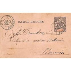 1896 Carte-lettre 25 c....