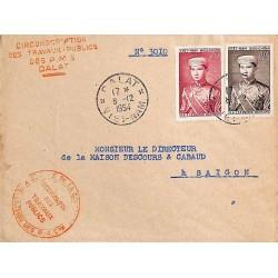 1954 Lettre de service pour...