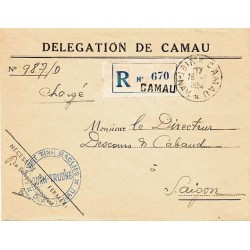 1954 lettre chargée au...