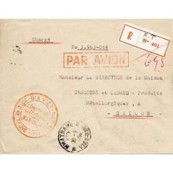 1954 lettre avion chargée...