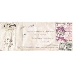 1955 lettre avion...