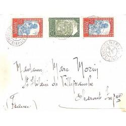 1934 lettre pour la France...