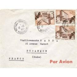1956 Lettre avion avec 328...