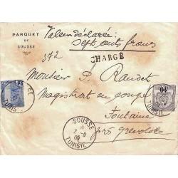 1909 Lettre chargée pour la...