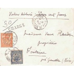 1905 lettre chargée avec...