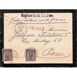 1891 lettre chargée avec...
