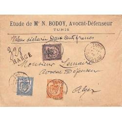 1901 lettre chargée avec...