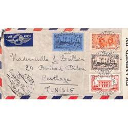1942 Lettre à 17 f. 40 pour...