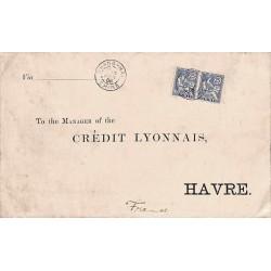 1906 lettre double port...