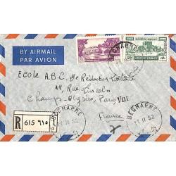 1952 BECHARRE Lettre recommandée avion