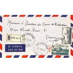 1953 BECHARRE Lettre recommandée avion