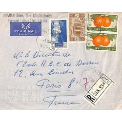 1955 BEYROUTH H Lettre recommandée avion