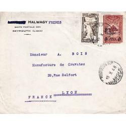 1946 BEYROUTH R.P. Lettre recommandée