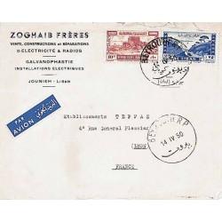 1950 BEYROUTH R.P. Lettre avion