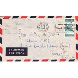 1954 BEYROUTH R.P. Lettre avion Oblitération mécanique
