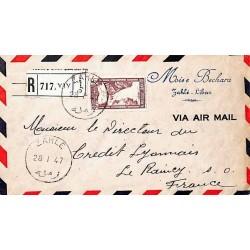 1947 ZAHLE Lettre recommandée avion