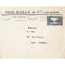 Lettre 1940 avec Liban 170...