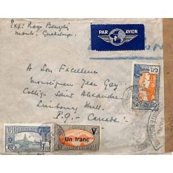 1944 Lettre Cachet CONTRÔLE...