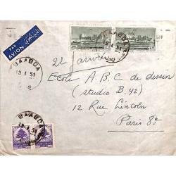 1951 BAABDA Liban Lettre à...