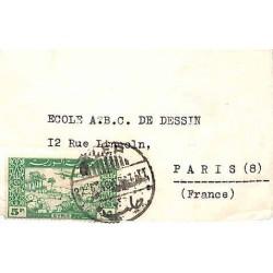 1946 Enveloppe pour carte...