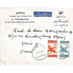 1954 Lettre à 35 p par...