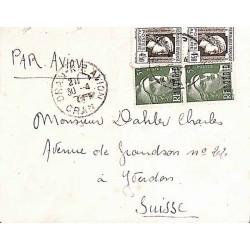 1945 Lettre pour la Suisse...