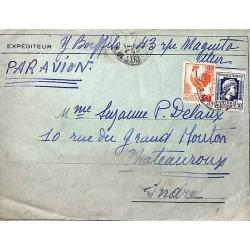 1945 Lettre à 3 f. 50...