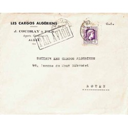 1945 lettre à 3 f....