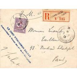 CASABLANCA * TRESOR ET POSTES AUX ARMEES *  1913