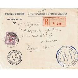 MARRAKECH TRESOR ET POSTES AUX ARMEES  1913