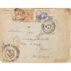 Lettre FM avion 14-8-1922...