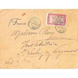 Lettre 1909 Oblitération HELVILLE NOSSI-BE