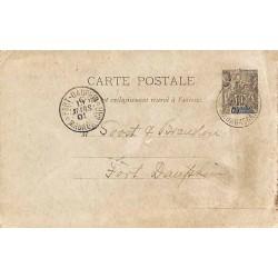 FORT-DAUPHIN * MADAGASCAR *  1901 Entier carte postale