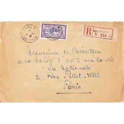 1921 TRESOR ET POSTES * 77 * avec 60 c Merson