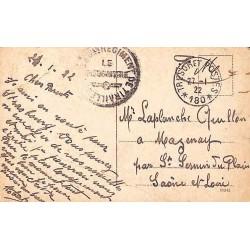 1922 TRESOR ET POSTES * 180 * Cachet 33 eme REGIMENT DE TIRAILLEURS  LE VAGUEMESTRE