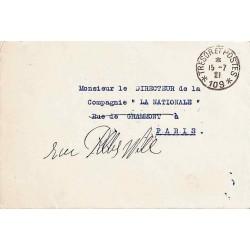 1921 POSTE AUX ARMEES * 109 *