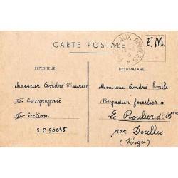 Carte postale 1945 du 1 er...