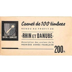Carnet de 100 timbres RHIN...