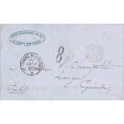 1864 ST PIERRE MARTIQUE *...