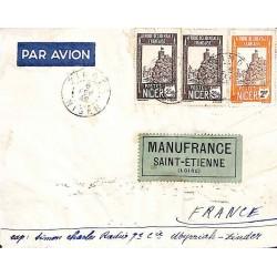 ZINDER NIGER Lettre avion pour la France 1942