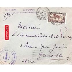 1928 Lettre Affranchissement PA6 CASABLANCA-BOURSE  MAROC