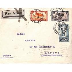 1932 Lettre avion pour la Suisse Affranchissement à 3 f 25
