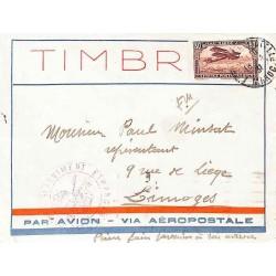 1930 Lettre FM Cachet 3 E REGIMENT ETRANGER