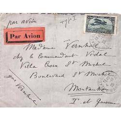 1925 Lettre avion en FM...